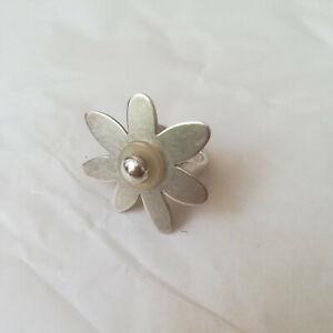 Toller Charlotte Ring mit Aufsatz Blüte Blume, Gr. 54, 925 Sterling Silber
