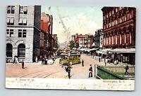 WASHINGTON D.C. OLD VIEW OF F STREET N.W. 1908 POSTCARD A-5-2