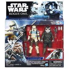 "Star Wars Rogue One Shoretrooper Captain & Bistan 3.75"" Action Figure Set - MIB"