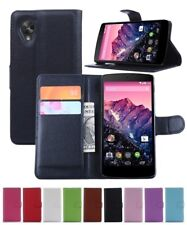 Wallet Leather Flip Case Pouch Cover For LG Google Nexus 5 Genuine AuSeller