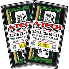 A-Tech 32GB 2 X 16GB DDR4 2400 Mhz PC4-19200 Portátil Memoria RAM 32G Sodimm 2Rx8