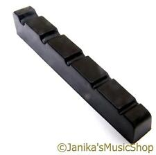 Black 5 string bass guitar fret end nut 45x6mm good quality for standard strings