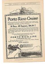 1914 Porto Rico Cruise - Porto Rico Line NY Advertisement