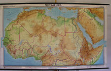 Scheda crocifissi Nord Africa North Africa Africa 255x154cm 1973 VINTAGE Wall Map