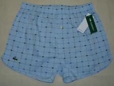 Lacoste Mens Woven Boxers Shorts 2 Pairs Underwear All Over Logos Size S