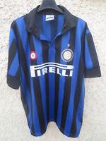 Maillot INTER MILAN maglia calcio football vintage shirt jersey trikot L
