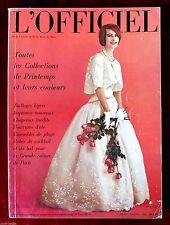 L'Officiel Paris Magazine ~ #469/470 April 1961 ~ Roland De Vassal Pottier