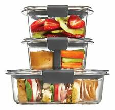 Rubbermaid Brilliance Divided Food Storage Containers 10 Pc Set Snack Lunch Kit