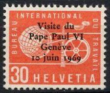 Suiza 1969 Sg #lb 100 Oficina de empleo, el Papa Pablo Vi Visita Mnh #d 6082