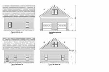 28X30 -Garage Plan Gable Roof 30 x 28 12' Walls Lift Ready Plan #17-2830-Gbl1