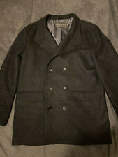 ** French Connection / FCUK ** Double Breasted Funnel Wool Jacket - size XXL