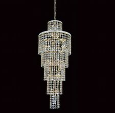 Impex Gold Crystal Chandalier, Porch/ Hallway Light. Glass Crystal