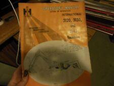 International 3120 3130 3140 Backhoes Operators Manual