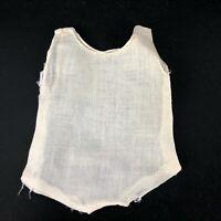 True Vintage Doll Clothes underwear Undergarment One Piece White Cotton Antique