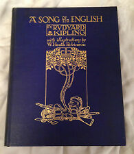 W Heath Robinson - A Song of The English - 1st 1909, 30 plates, Beautiful Copy