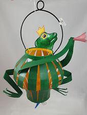 Prince FROG Metal Lantern Tea Candle Patio Garden Decor Dept 56 NEW Adorable