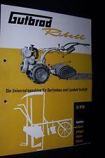 Gutbrod rebelde mucho fin einachser 5 PS folleto original sales brochure Antik