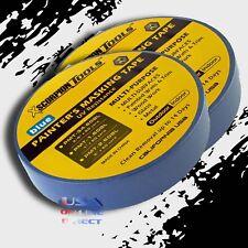 "2 Rolls Multi-Surfaces Blue Painter Masking Tape 3/4"" 180 ft. 60 yards Edge Trim"
