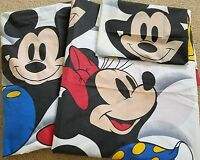 Disney Mickey Minnie Mouse Twin Sheets FLAT~FITTED~PILLOWCASE Vintage Wamsutta
