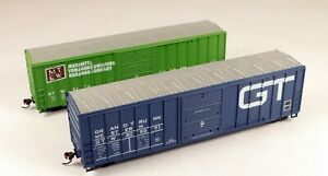 (2) Roundhouse 50' Box Car GT/MT&W #4176/309371 1/87 HO Scale #5 NO BOX