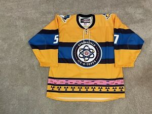 Springfield Thunderbirds Authentic Ice-O-Topes Specialty Simpsons AHL Jersey 54