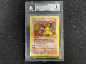1999 Pokemon | Charizard | Base Set | Holo Shadowless | BGS 9