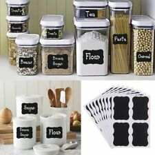 36pcs Chalkboard Blackboard Removable Sticker Decal Craft Kitchen Jar Label Tags