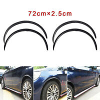 4*Carbon Fiber Car Vehicle Wheel Eyebrow Arch Lips Strip Fender Flares Protector