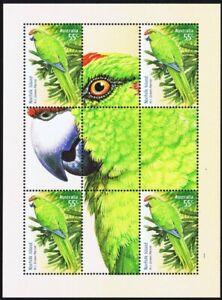 Norfolk Island 2009 LIMITED EDITION Green Parrot Souvenir Sheet MNH