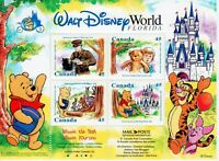 Canada Winnie The Pooh #1621b Souvenir Sheet. 1996  MNH