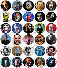 30 x Scary Horror Films Halloween Party Edible Rice Wafer Paper Cupcake Toppers