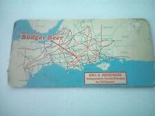 Vintage HALL & WOODHOUSE / BADGER BEER  -  Cat No'38 Beermat / Coaster