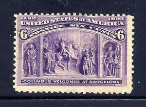 US Stamps  - #235 - MNG - 6 cent 1893 Columbian Expo Issue - CV  $50