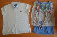 Girls shirts tops size Large (10), D-Signed layered, Ralph Lauren blue polo, *46