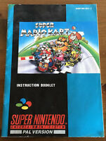 Super Nintendo Snes Super Mariokart Instruction Booklet