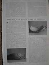 Photo article on ancient basque game of Trinquet Spain 1904