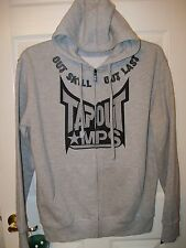 Tapout Out Skill Last Gray & Black Full Zipper Hoodie Jacket Mens Size Large NWT