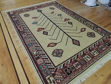 6x9 Tribal Reversible hand-knotted wool Oriental Area Rug Red Beige Kazak-style