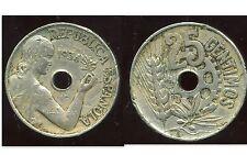 ESPAGNE 25 centimos  1934
