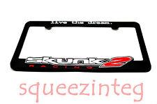 *2* Skunk2 License Plate Frames AUTHENTIC Live The Dream Skunk 2 EF EG EK DA DC