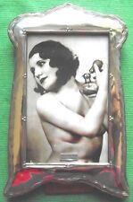 LARGE Art Nouveau London Hallmark Solid Silver Photo Frame : Xmas Valentines