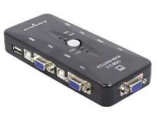 Switch 4 Tastiera Monitor Mouse Kvm Commutatore Deviatore Pc KVM41UA hsb
