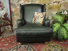 Vintage Leather Chesterfield Wingback Armchair Lounge Chair~Sofa~