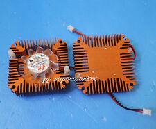 2pcs Aluminum Heatsink with fan for 5W/10W High Power LED Cooling Cooler DC12V