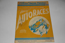 Midget Auto Races Program, Fresno Airport Speedway, August 31 1947, Original