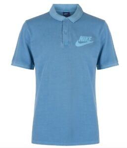 Nike Homme Coton Shirt Polo Bleu TAILLE S NEUF AVEC ÉTIQUETTE