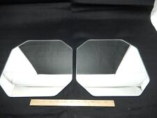 Pair of Vintage  Square Mirror Glass with Clipped Corners.  Trivets or Display