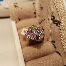 Giuseppe 'Pippo' Perez Multi Gemstone ring in Platinum over Sterling Silver 'L'