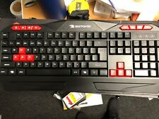 iBuyPower ARES E1 gaming Spill Resistant keyboard Black Red