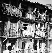 PORTUGAL c.1950 - Maisons  Linge aux Fenêtres  Porto - Négatif 6 x 6 - Por 150